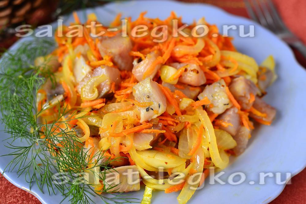 Салат из капусты и селедки рецепт