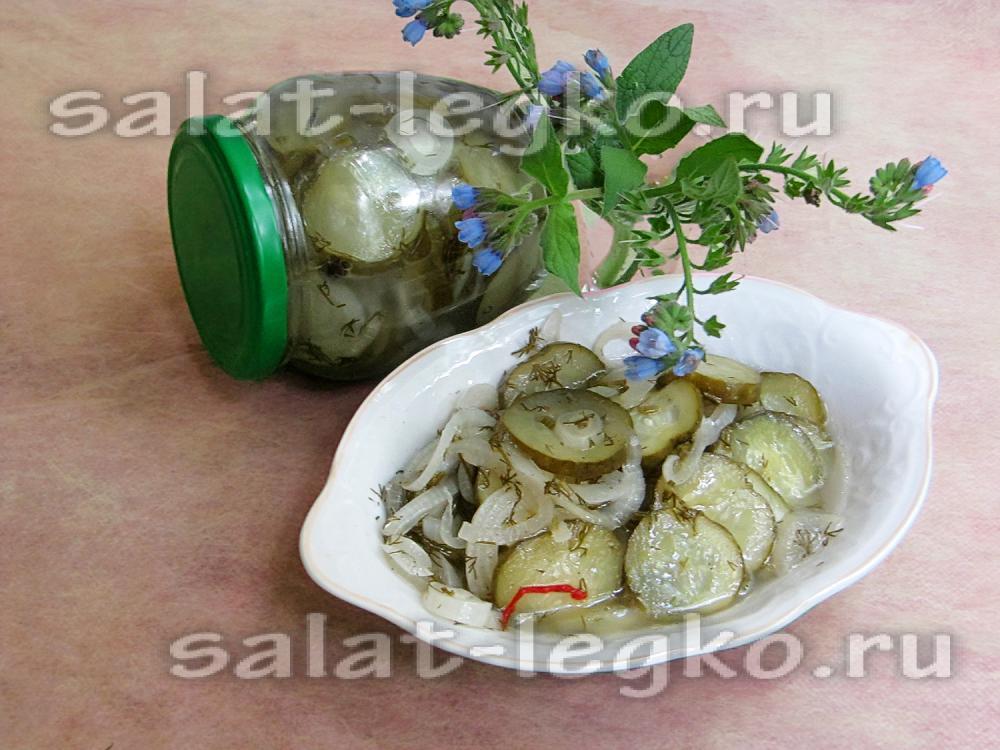 рецепт салат из огурцов охотничий на зиму рецепт