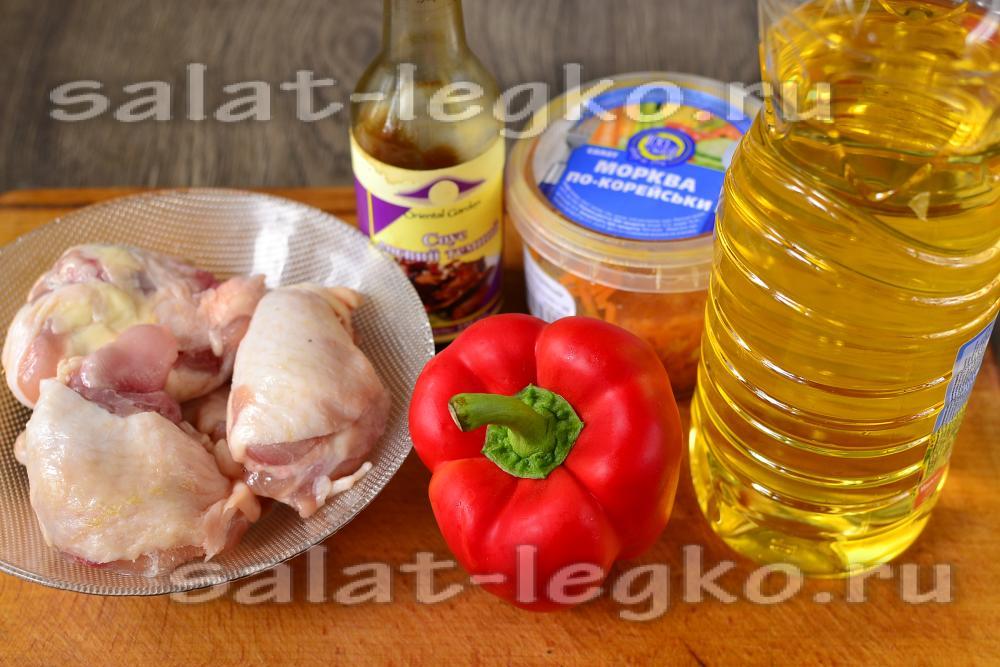 салат из курицы по китайски рецепт с фото