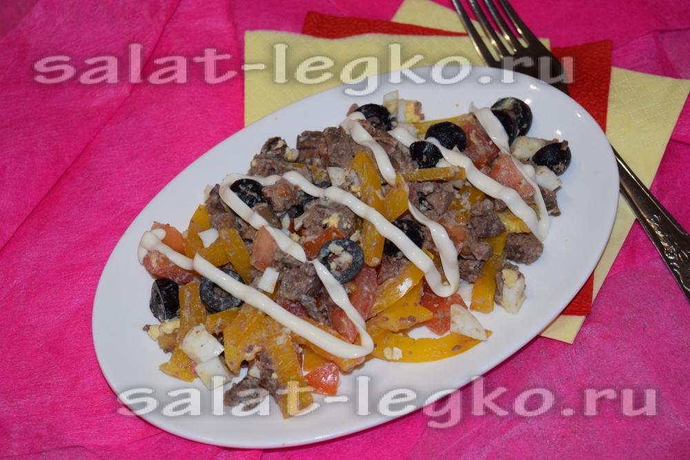 салат с печенью куриной рецепт