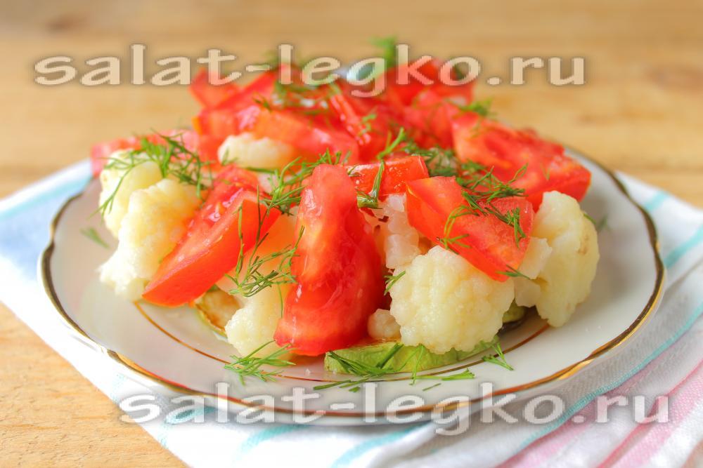 салат из цветной капусты с кабачками на зиму