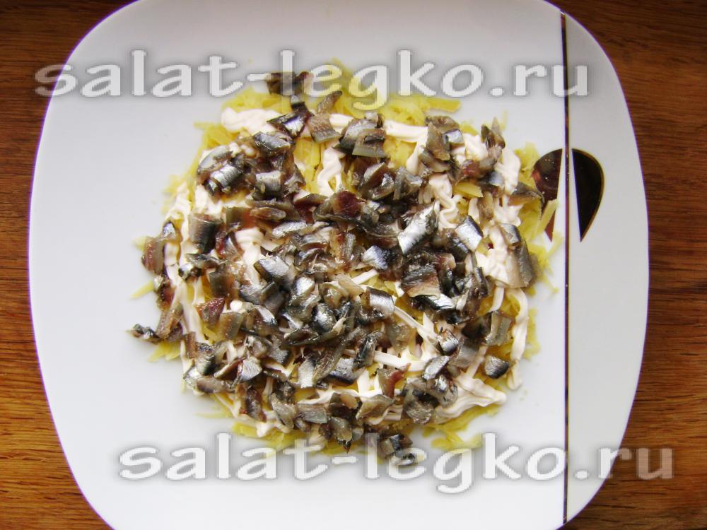 салат с анчоусами рецепт самый вкусный