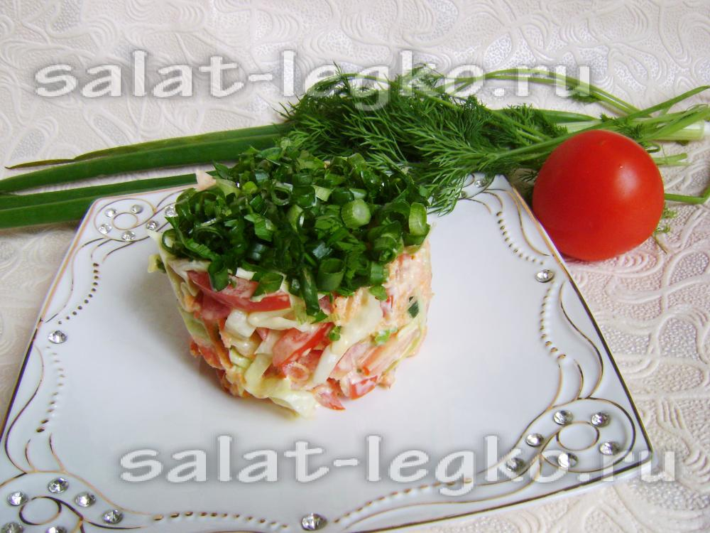 салат арлекино рецепт с помидорами колбасой