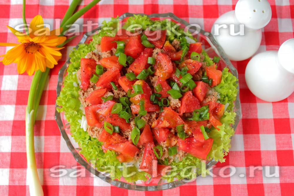 салат из тунца с перцем рецепт с