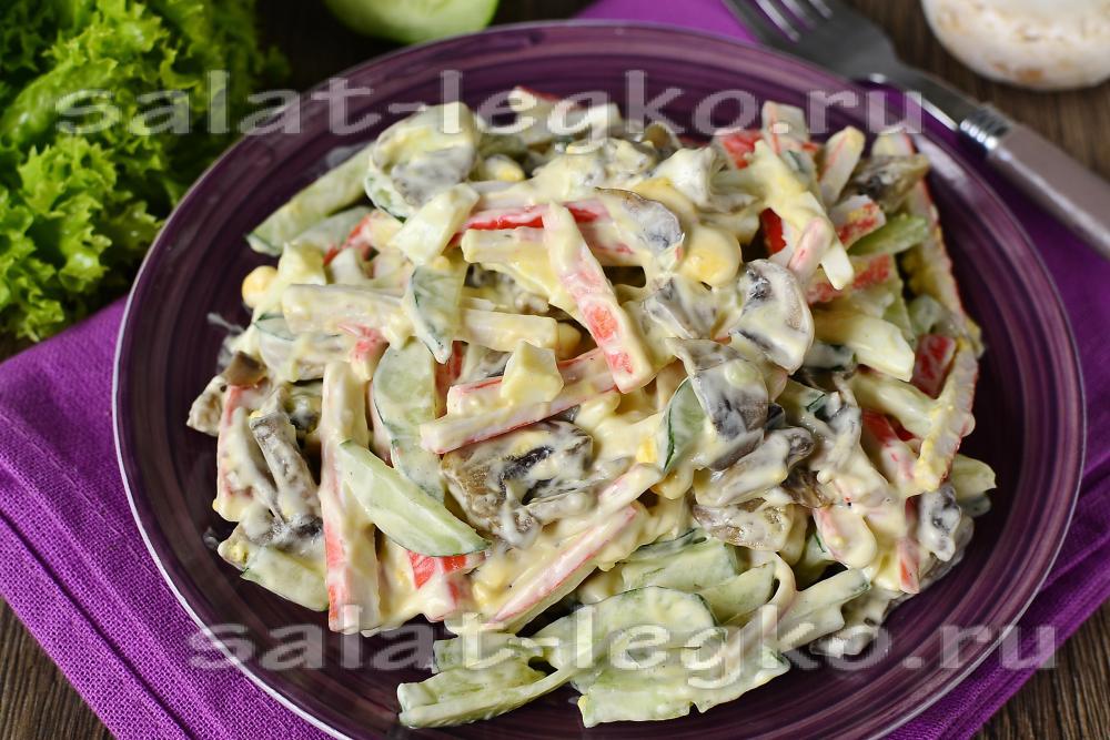 рецепты салатов с крабовыми палочками и картофелем
