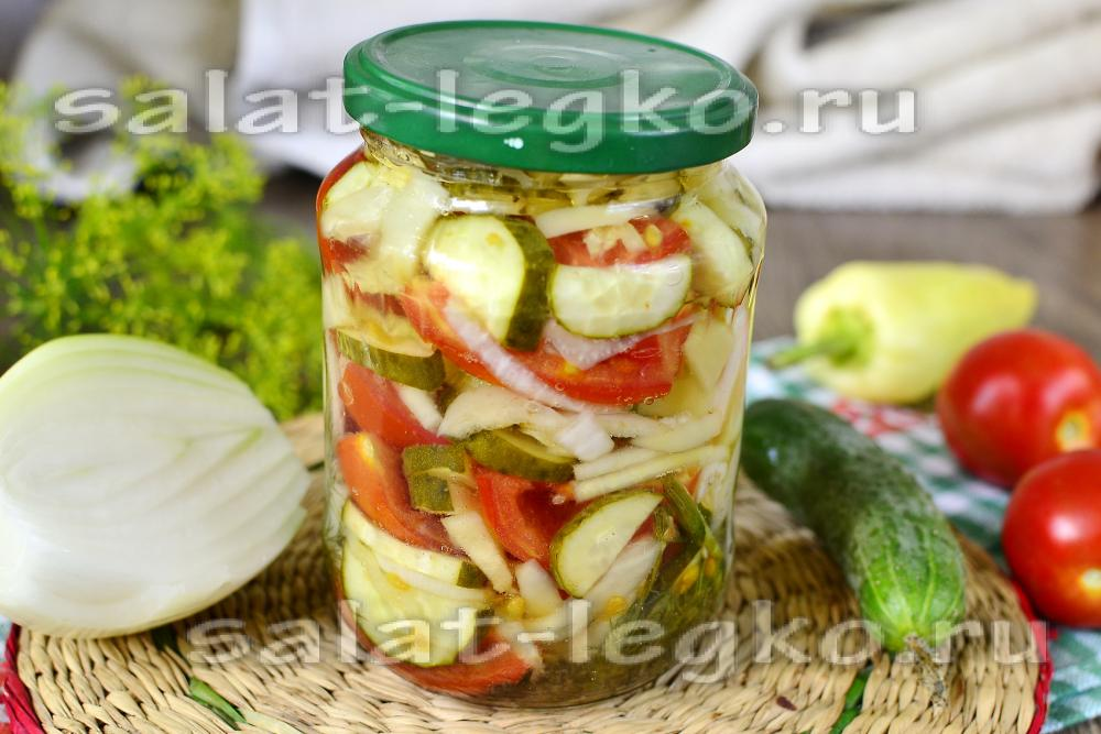 рецепт салата из огурцов на зиму нежность