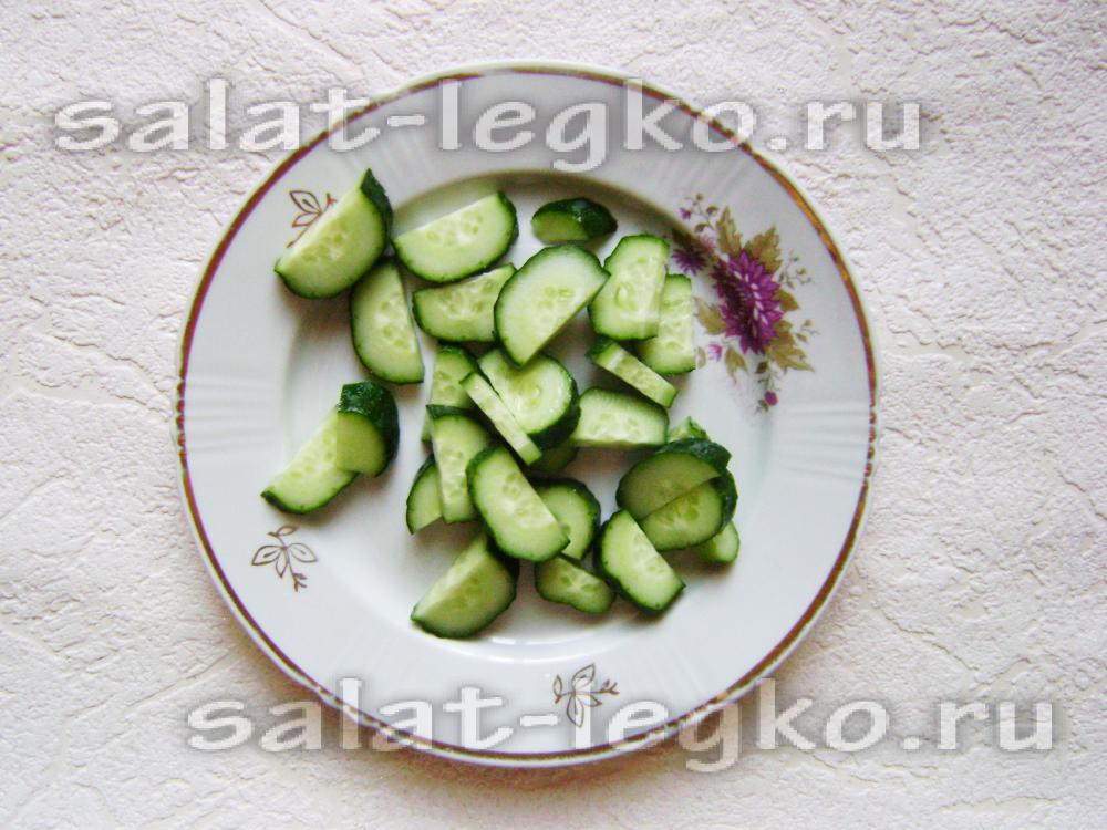рецепт салата на зиму слоями огурцы помидоры перец