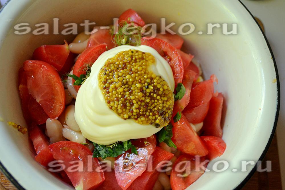 салат со сметаной рецепт с фото очень вкусный