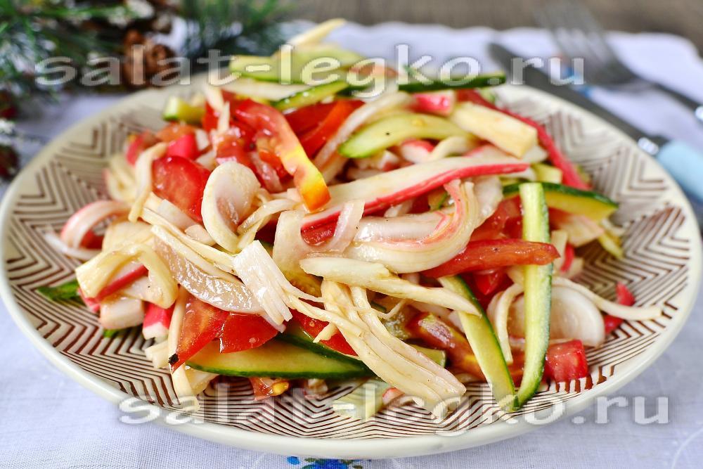 Салат из крабовых палочек з фото