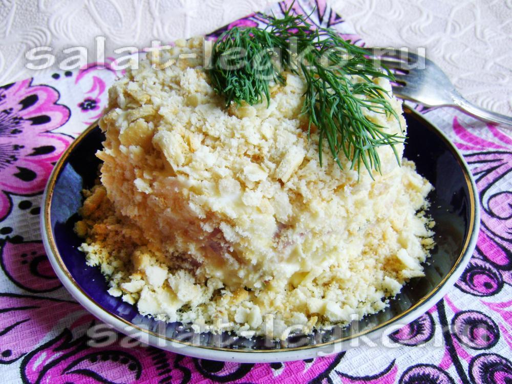 салат наполеон рецепт с колбасой