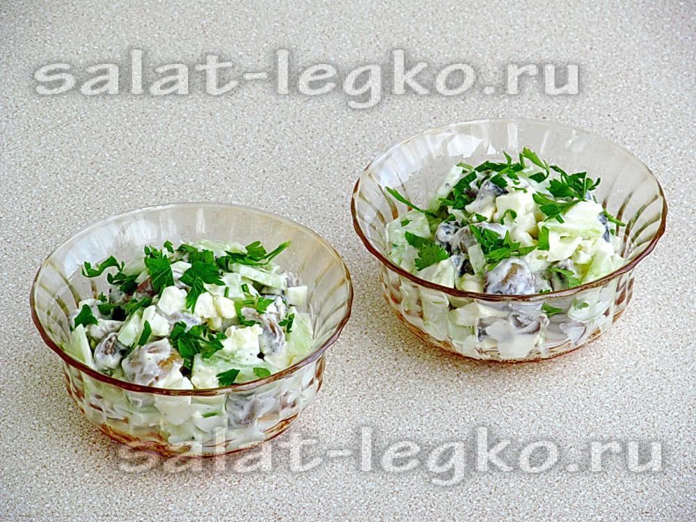 рецепты салатов из свежих огурцов с яйцом