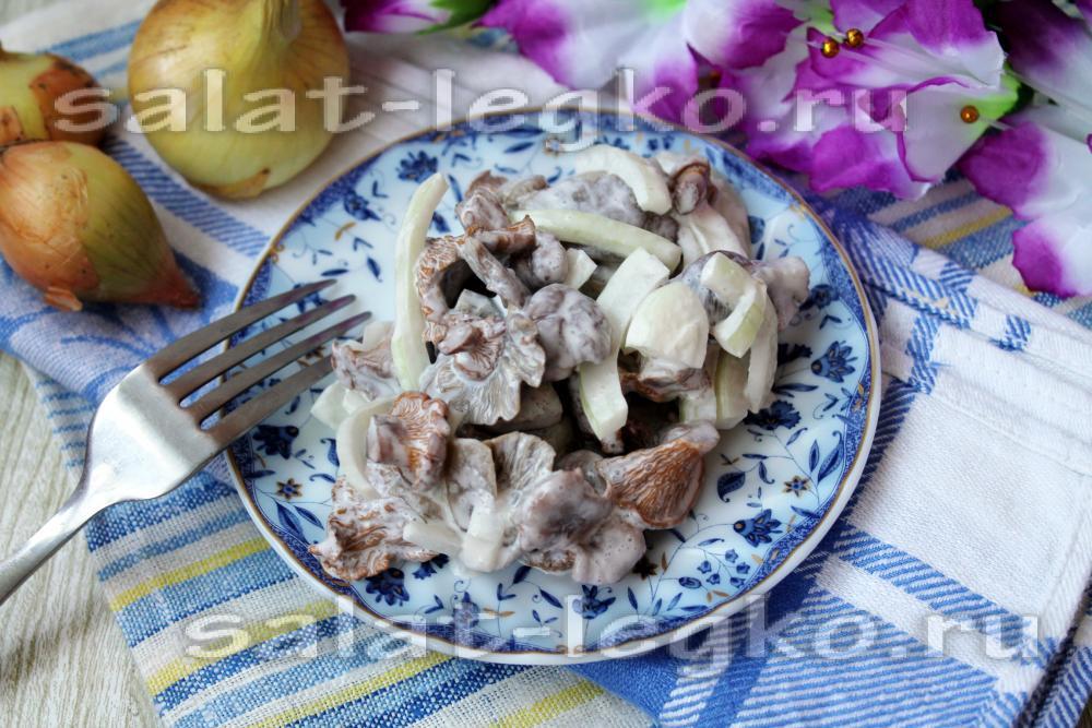 рецепт салата из кабачков и грибов