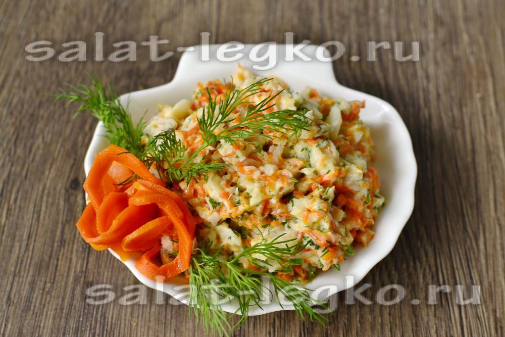 Салат раковые шейки из рыбы