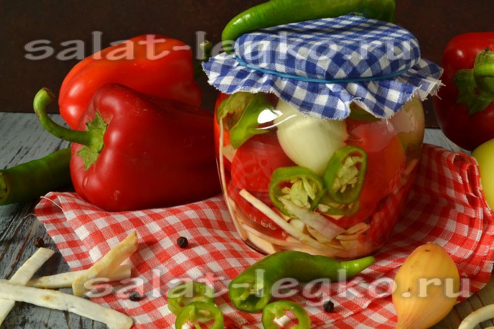салат из перца с луком на зиму рецепты
