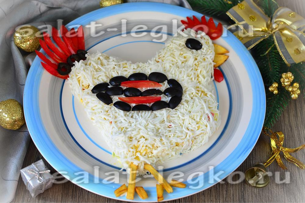 салат радуга с картошкой рецепт с фото