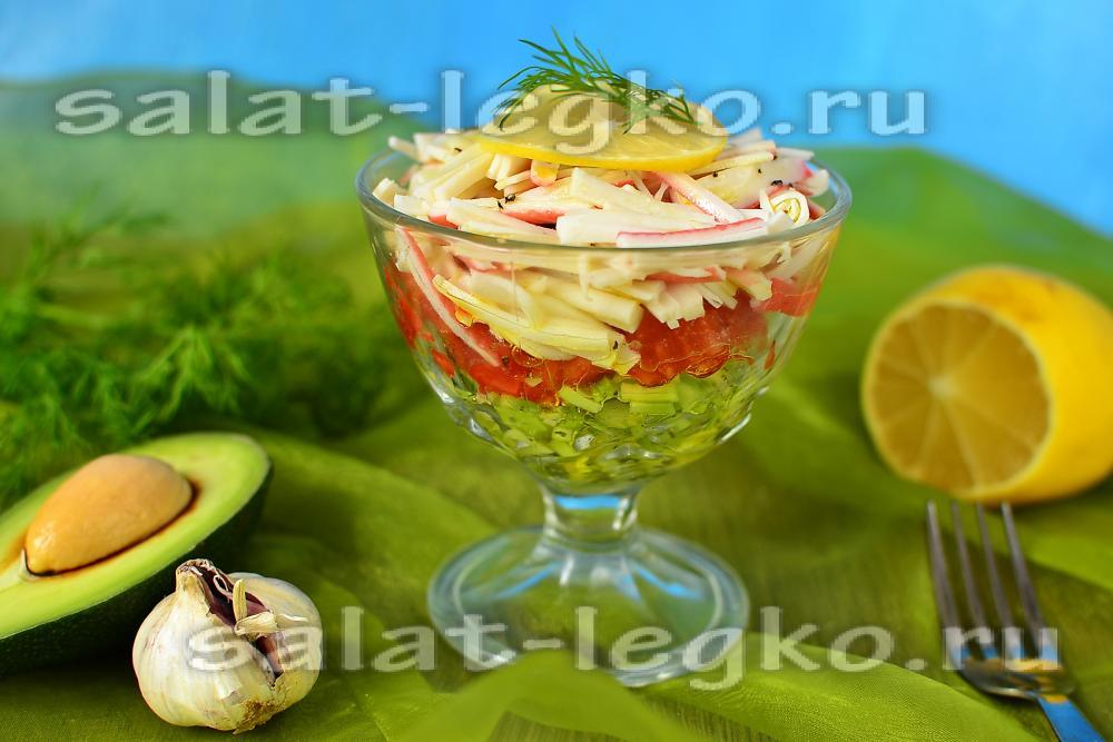 Диетический салат с авокадо рецепт