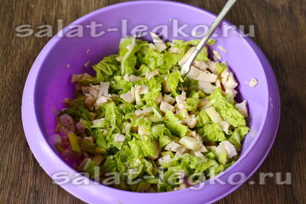 Салат с авокадо с курицей 177