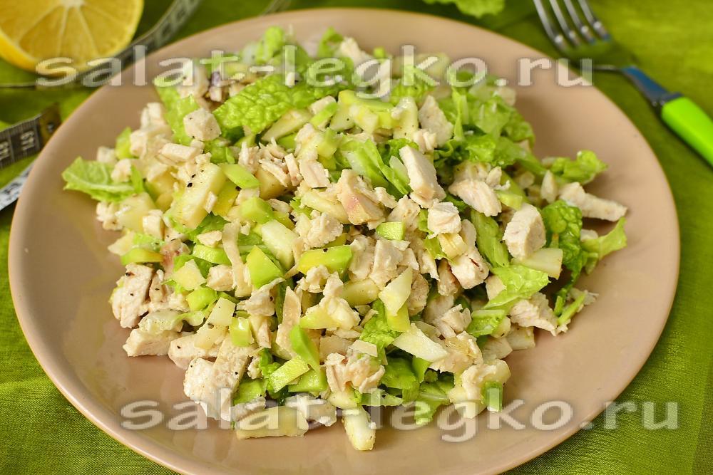 салат из курицы и ананасов слоеный рецепт с фото очень вкусный с