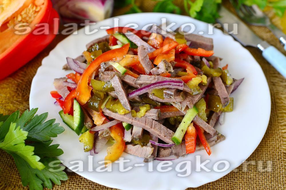 Рецепт салата с фунчозой и говядиной 142