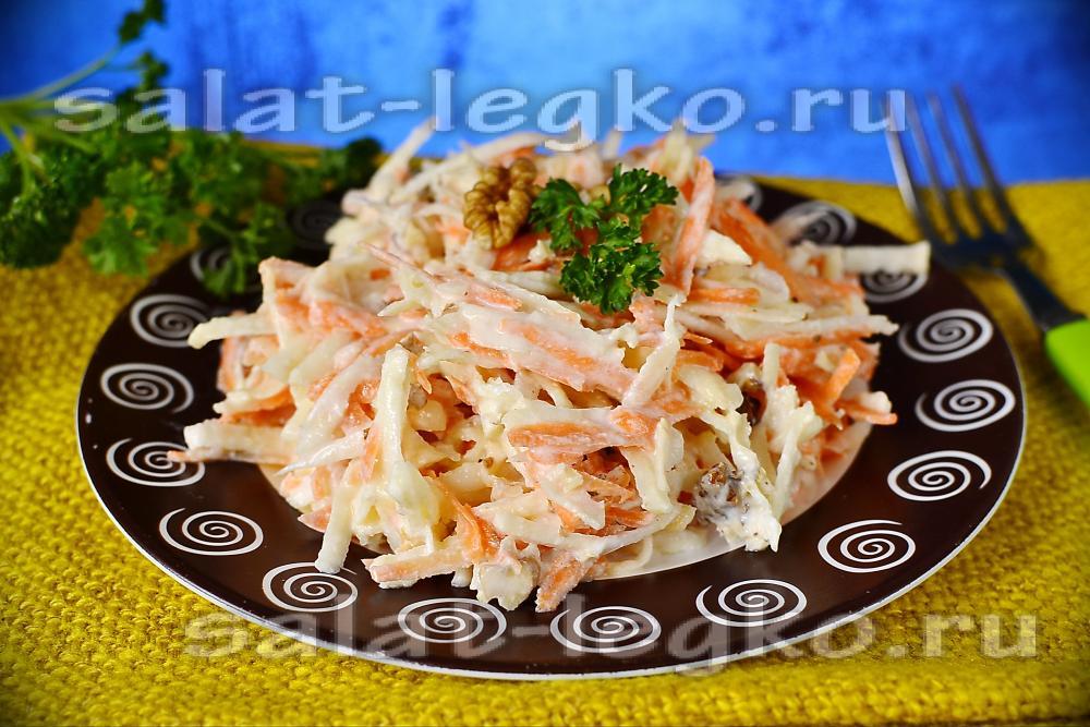 рецепт салата из сельдерея с яблоком и