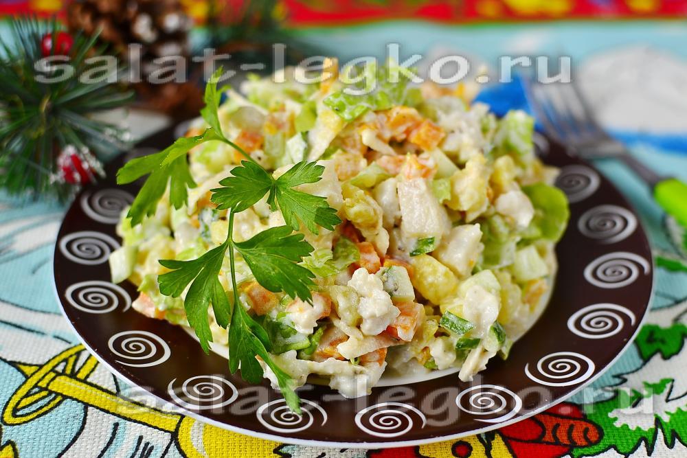 Рыбный салат из отварной рыбы рецепт