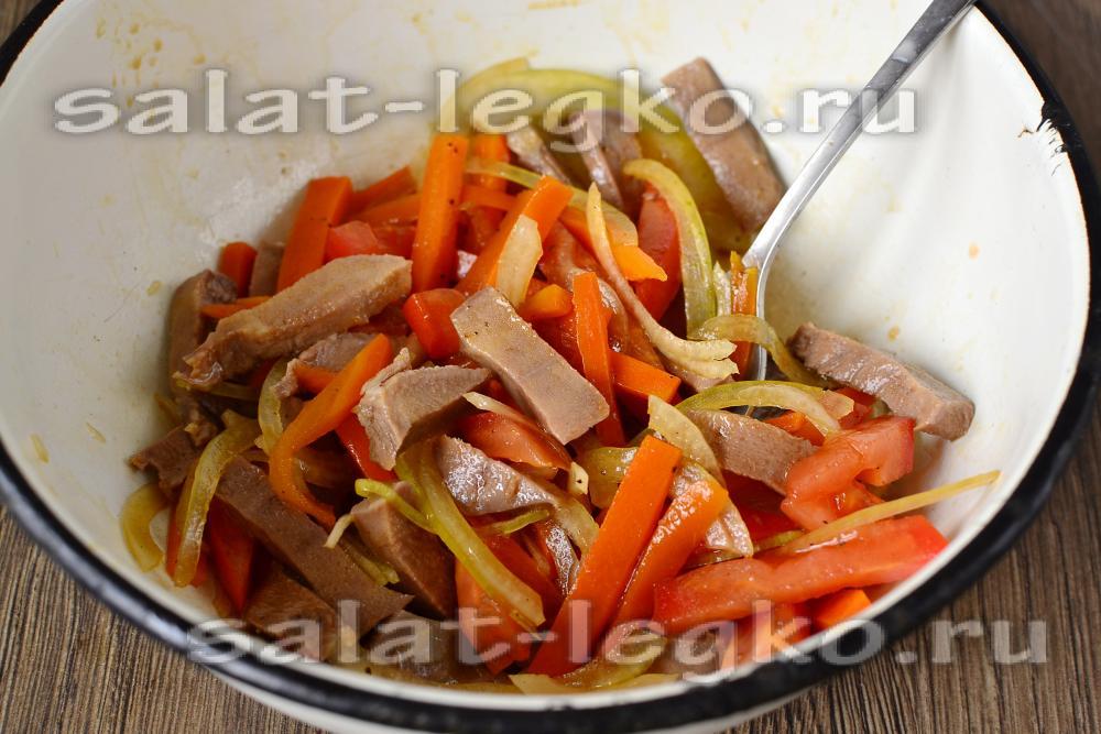 Салаты с свиным языком рецепты с простые