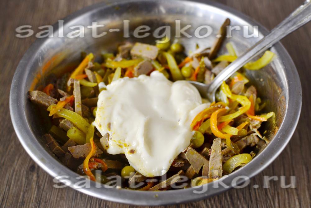 салат с куриной печенью рецепт классический рецепт