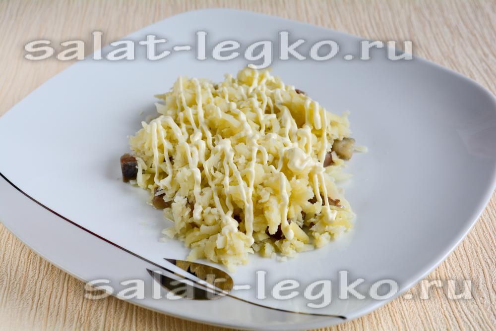 салат под шубой рецепт с фото оформление