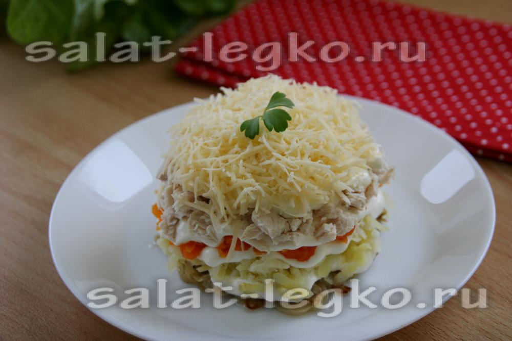 Салат ночь рецепт с фото