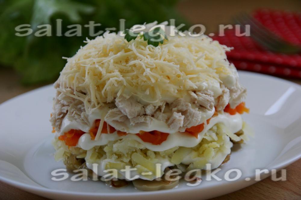 салат белая ночь пошаговый рецепт