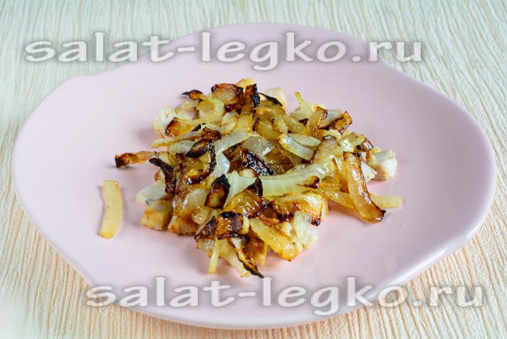 рецепт салата с корейской морковью ежик
