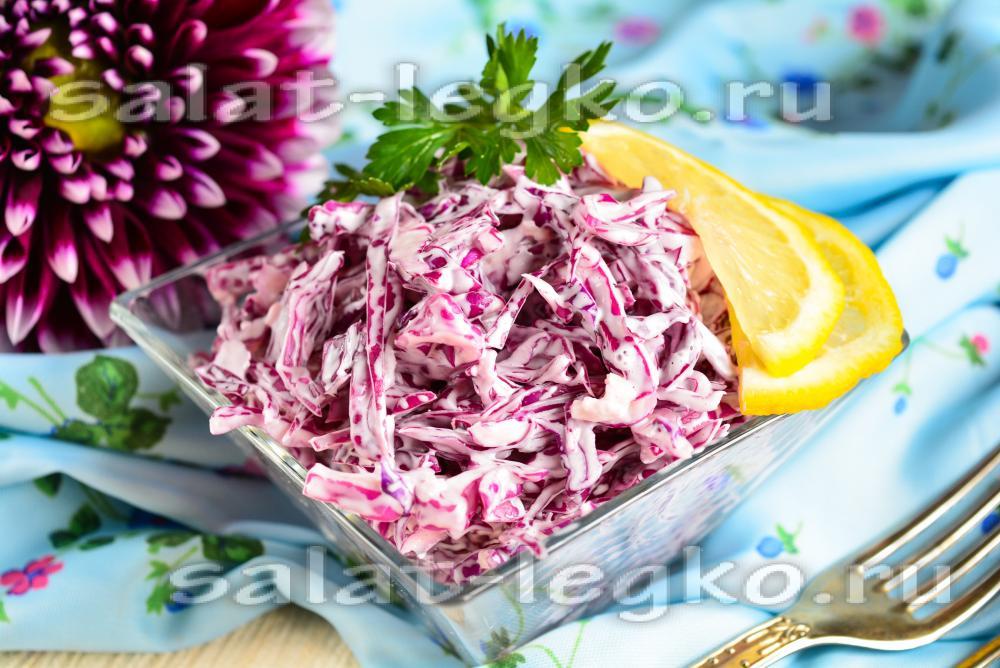 салат с капустой и чесноком и майонезом рецепт