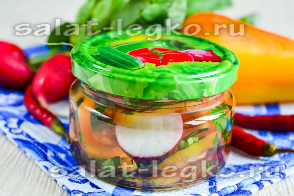 рецепт салата из перца в банки