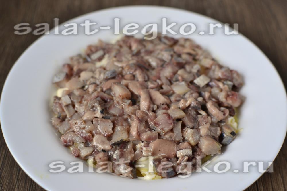 селедка под шубой с яйцом пошаговый рецепт