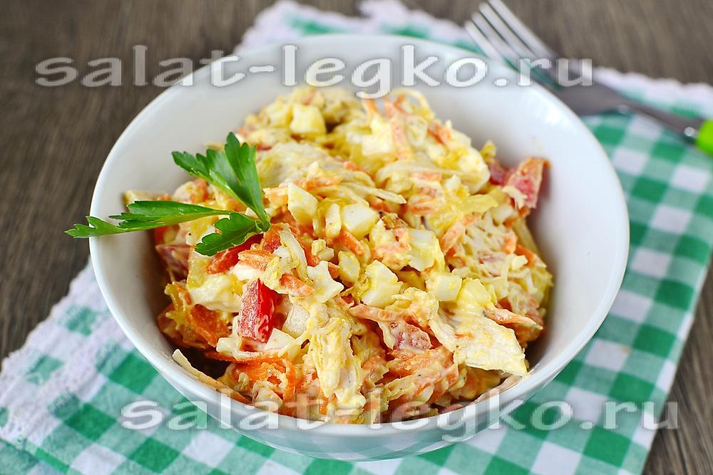 рецепт салата из корейской моркови слоями