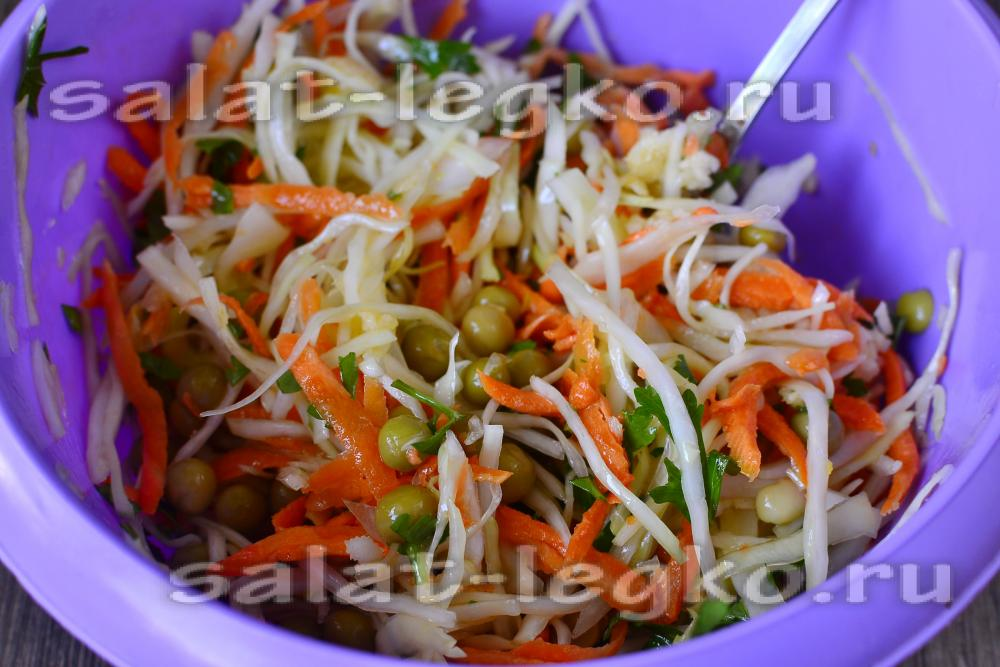 Салаты из белокочанной капусты рецепты с фото