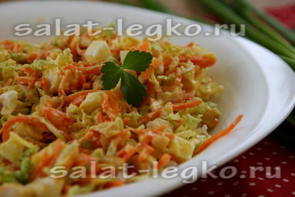 рецепт салата с морковкой яблоком и сыром