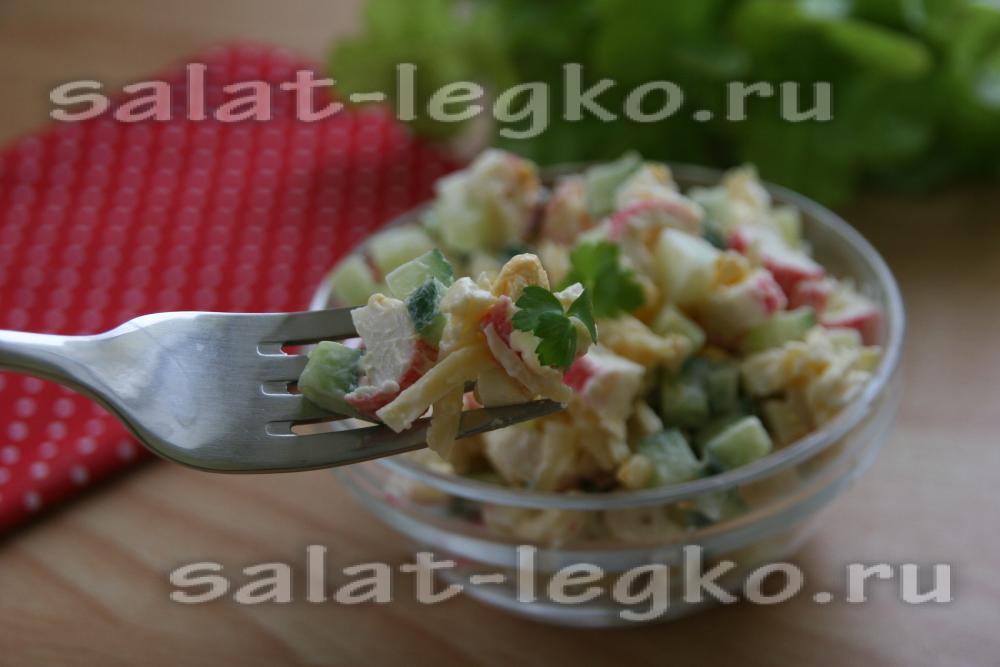 салат крабовый и рецепт картинки