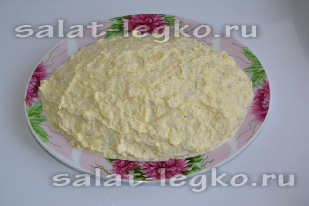 салат из соленой кеты рецепт с фото