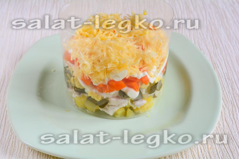 Салат лесная поляна с пошагово