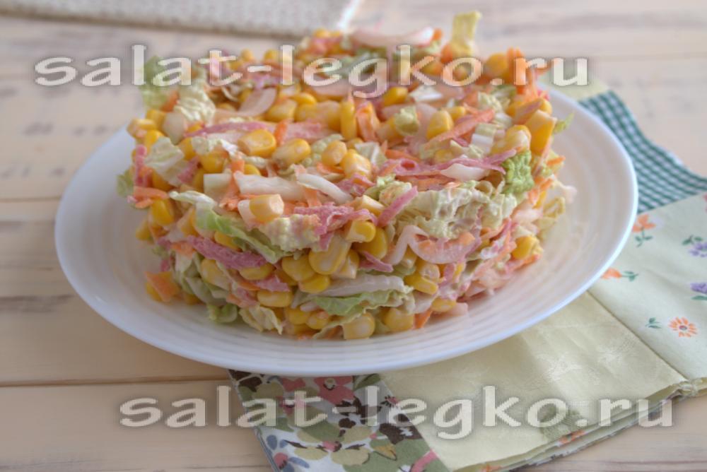 Рецеп салатов для банкета фото