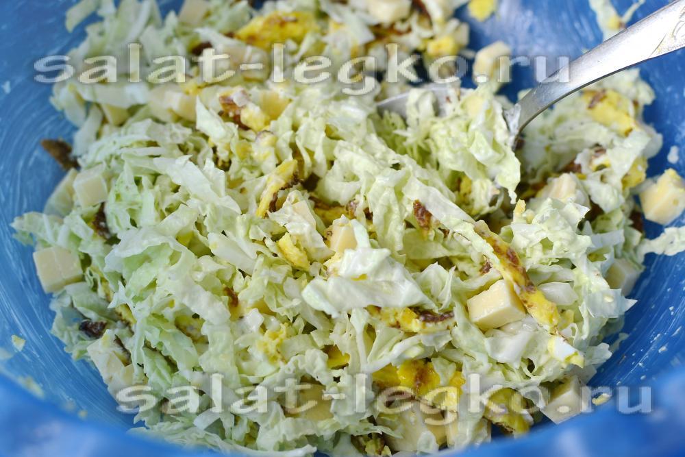 пекинская капуста салаты рецепты с соусом