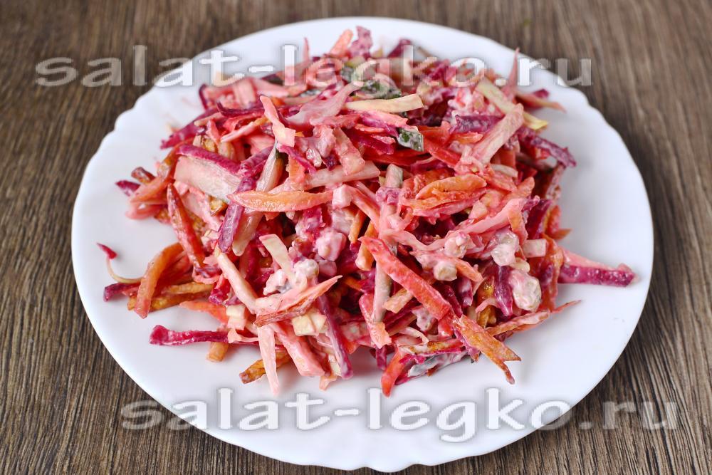 салат кучками рецепт с колбасой