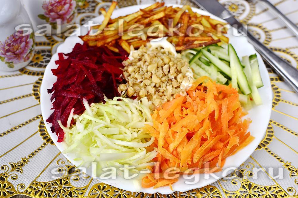 Как сделать французскую салат