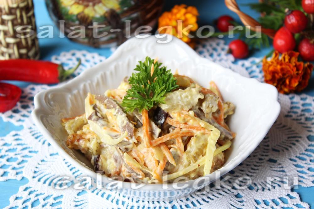 рецепт острого салата с баклажанами