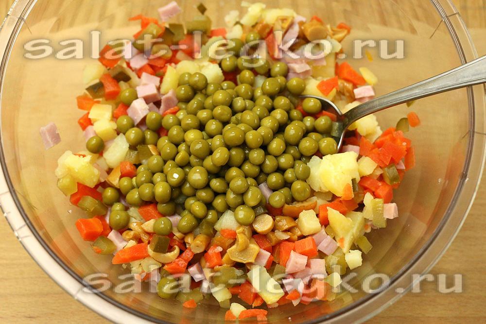 110Рецепт салата с отварной говядиной с