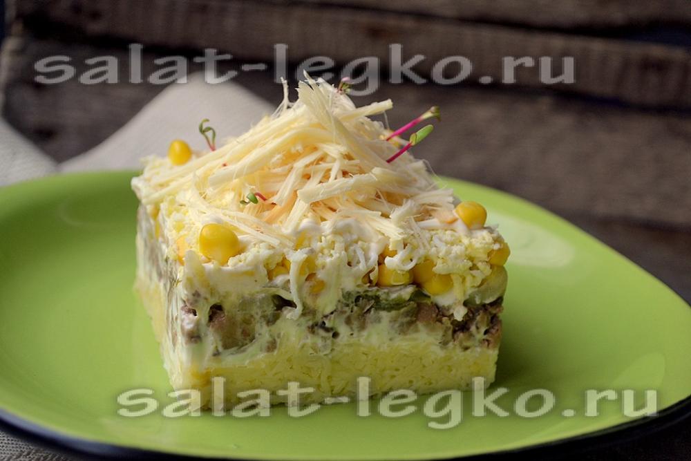 Салаты с ветчиной рецепт с пошаговым фото