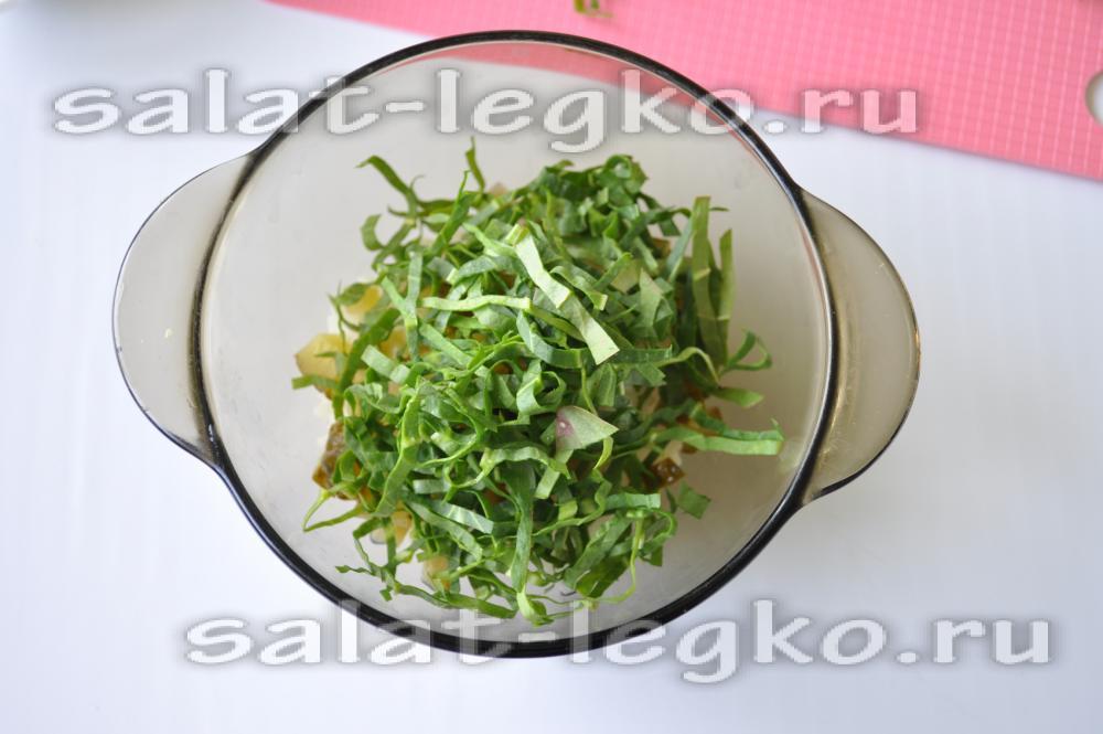 Салат из щавеля рецепт с фото с яйцом и
