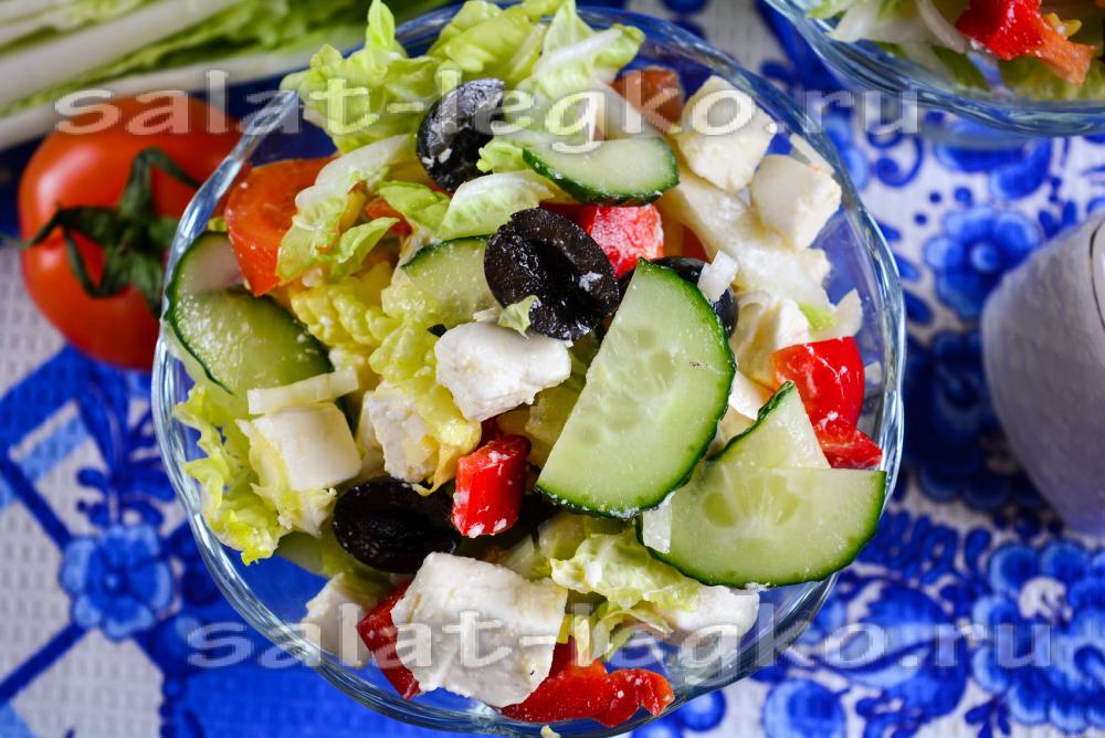 салат с пекинской капустой греческий