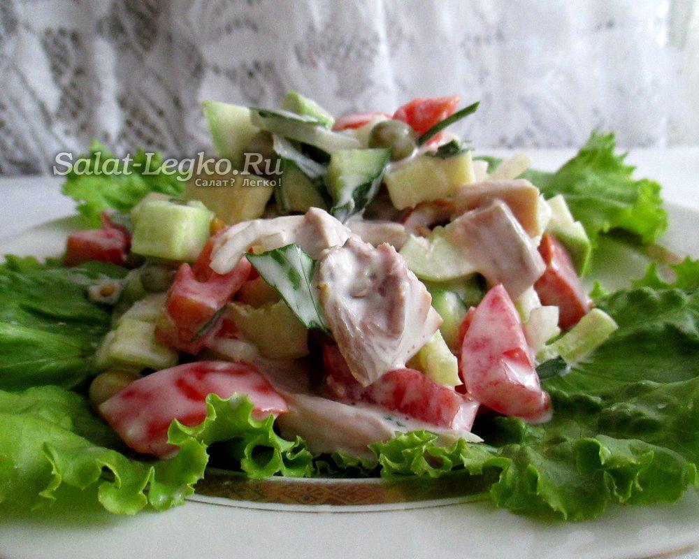 салат с курицей и кабачками рецепт